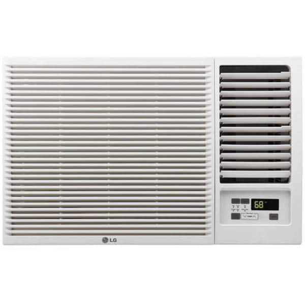 Lg Electronics 8 000 Btu Window Smart Wi Fi Air Conditioner With Remote Energy Star In White Lw8017ersm The Home Depot