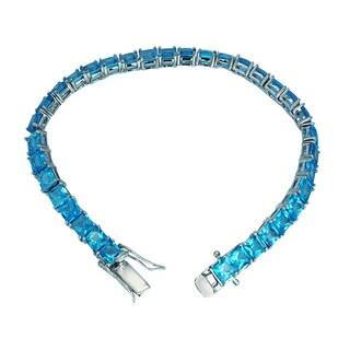 5mm Swiss Blue Topaz Tennis Bracelet for Women