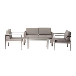 Pangea Home Karen Fabric/ Aluminum 4-piece Sofa Set