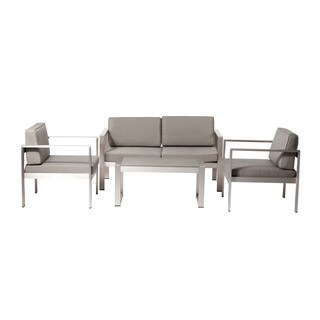 Pangea Home Karen Fabric/ Aluminum 4-piece Sofa Set
