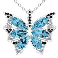 Turquoise Butterfly Wings necklace  - Sea Green