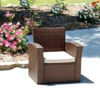 Prima Brown Rattan/ Steel Outdoor Single Sofa