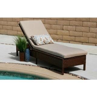 Vera Brown Rattan/Steel Outdoor Lounge Chair