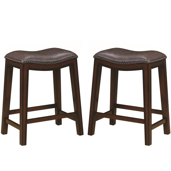 Shop Saddle Design Brown Seat Counter Height Dining Stools