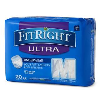Medline FitRight Ultra Protective Underwear Medium (80 Count)