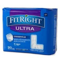 Medline FitRight Ultra Protective Underwear Large (80 Count)