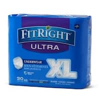 Medline FitRight Ultra Protective Underwear X-Large (80 Count)