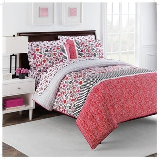 Nantucket Rose Full-size 7-piece Comforter Set by Robin Zingone
