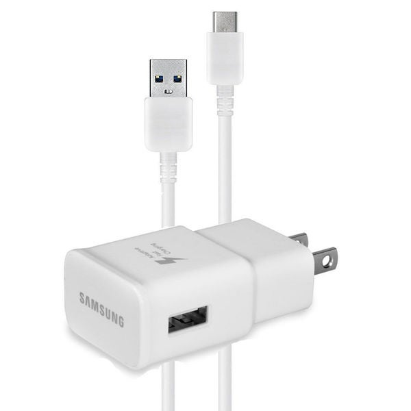 Samsung FAST CHARGE Type C USB Data Cable + Adaptive Fast Charging Wall Charger