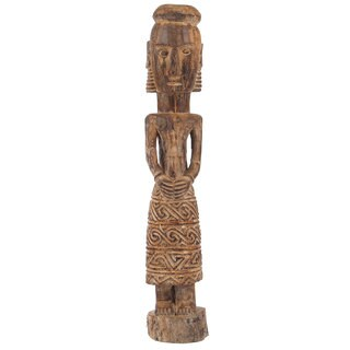 Primitive African Tribal Village Woman Statue, 24 Inches Tall (Bali)