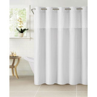 Hookless Bahamas Shower Curtain with Snap-On Liner