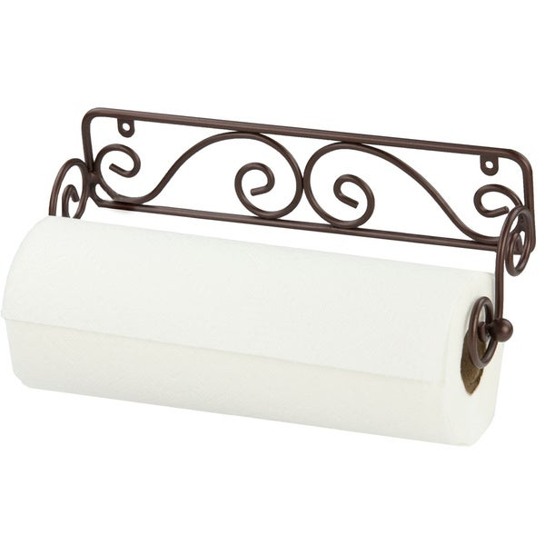 Shop Home Basics Scroll Collection Steel Wall Mounted Paper Towel