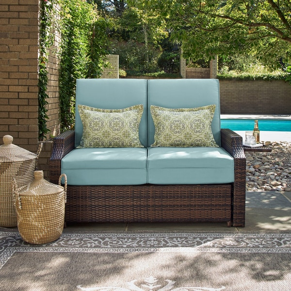 Shop Bahama Teal Pool and Deck Convertible Outdoor Sofa by Lifestyle ...