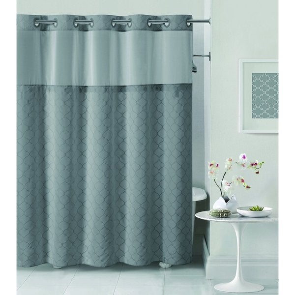 Shop Hookless Mosaic Shower Curtain - Free Shipping Today ...