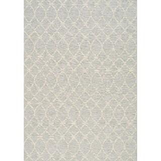 Vanity Collection Wavy Day Grey Outdoor Area Rug (7'10 x 10'10)
