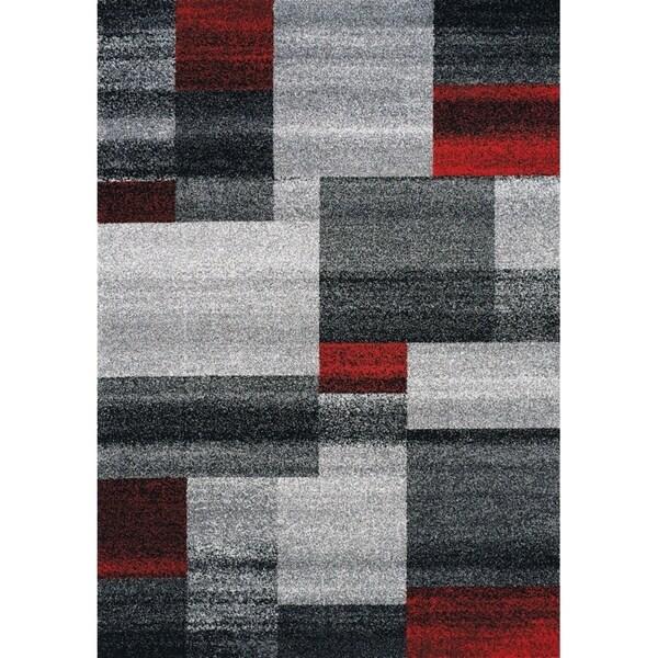 """Forest Grey/Red Bricks Rug (5'3"""" x 7'7"""") - 5'3"""" x 7'7"""""""