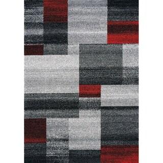 "Forest Grey/Red Bricks Rug (7'10"" x 10'6"")"