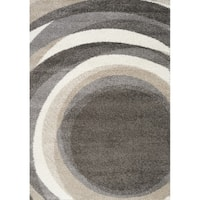 """Marcy Dark Spirals Rug (7'10"""" x 10'10"""")"""