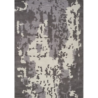 "Link to Maeve Grey/Cream Shattered Appearance Textured Rug (7'10"" x 10'6"") - 7'10"" x 10'6"" Similar Items in Transitional Rugs"