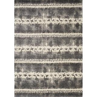 "Aumbry Grey/Cream Softened Stripes Rug (5'3"" x 7'7"")"