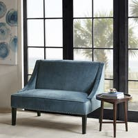 Madison Park Calla Swoop Arm Settee 2-color Option