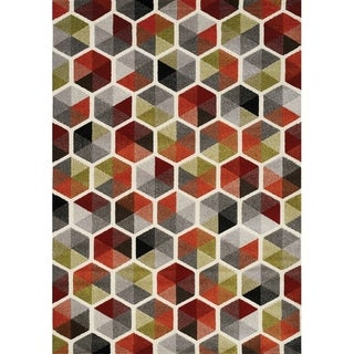 "Stella Colourful Honeycomb Rug (5'3"" x 7'7"")"