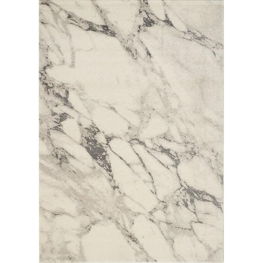 Inertia Cream/Grey Marble Splatter Rug (53 x 77) - 53 x 77 (Cream - 53 x 77)