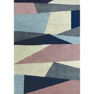 Maeve Multicolored Wool Geometric Rug (7'10 x 10'6)
