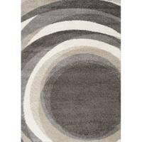 """Marcy Dark Spirals Rug (5'3"""" x 7'7"""")"""
