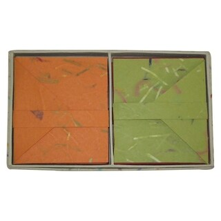 Handmade Boxed 16 Cards and Envelopes - Organic Design (India)