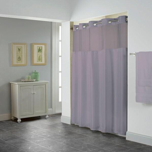 Hookless Herringbone Shower Curtain