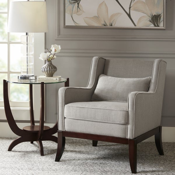 madison park signature sherman taupe/dark brown accent chair