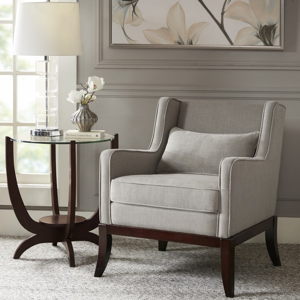 Exceptional Madison Park Signature Sherman Taupe/Dark Brown Accent Chair
