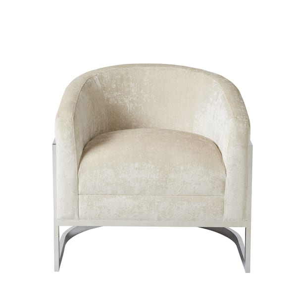 Astonishing Shop Madison Park Mateo Cream Chrome Accent Chair On Sale Dailytribune Chair Design For Home Dailytribuneorg