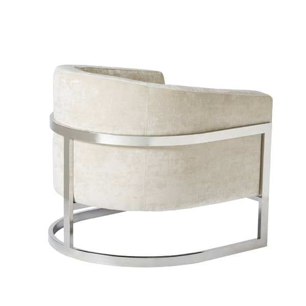 Incredible Shop Madison Park Mateo Cream Chrome Accent Chair On Sale Dailytribune Chair Design For Home Dailytribuneorg