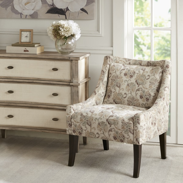 Madison Park Cofeman Beige Multi/Brown Fabric Accent Chair