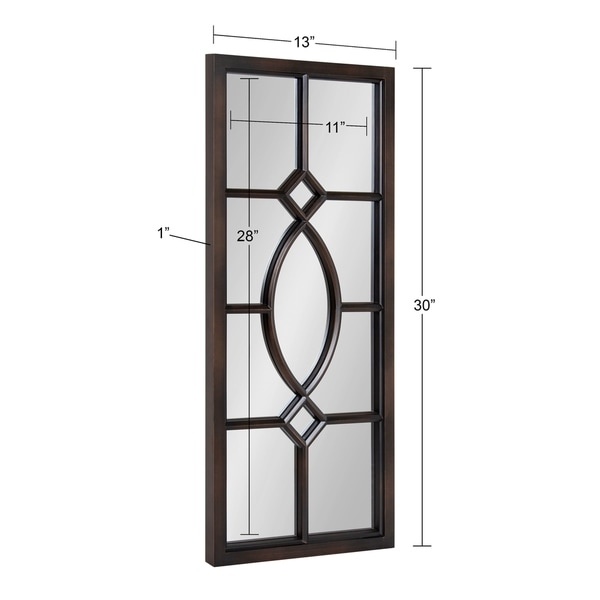 Kate and Laurel Cassat Window Wall Accent Mirror - 13x30