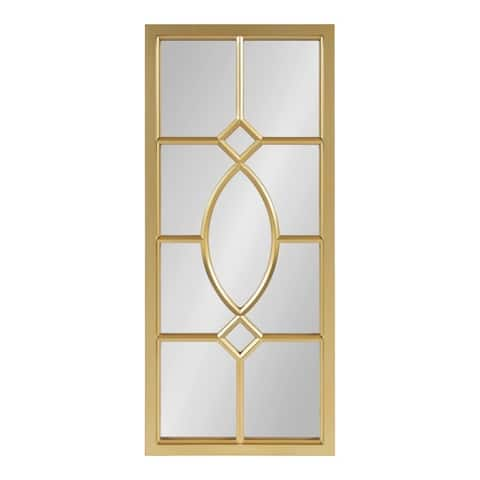 Kate and Laurel Cassat Window Wall Accent Mirror - 13x30