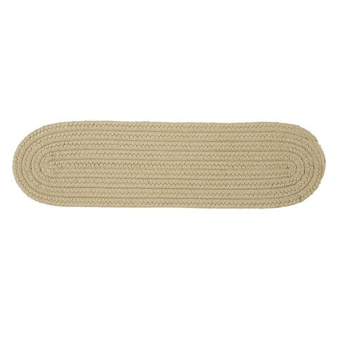 "Solid Reversible Oval Stair Tread - 8"" x 28"" Stair Tread (Single)"
