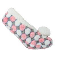 Sleepyz Dotz Slipper Sock W Poms - Pink