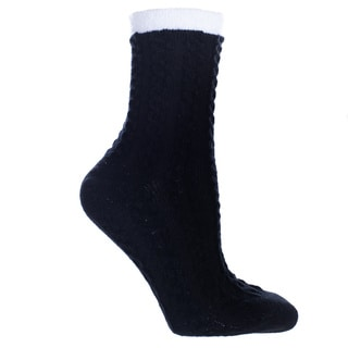 Kissables Spa Collection: Double Layer Sock-Shea Butter Infused- Womens-One Size Fits Most (Sizes: 6-10) - Womens