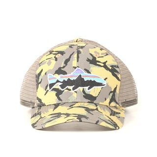 Shop Patagonia Big Camo Classic Tan Fitz Roy Trout Trucker