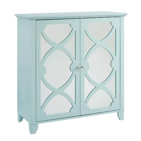 Winnie Seafoam Large Cabinet with Mirrored Door