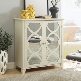 Winnie Cream Large Cabinet with Mirrored Door