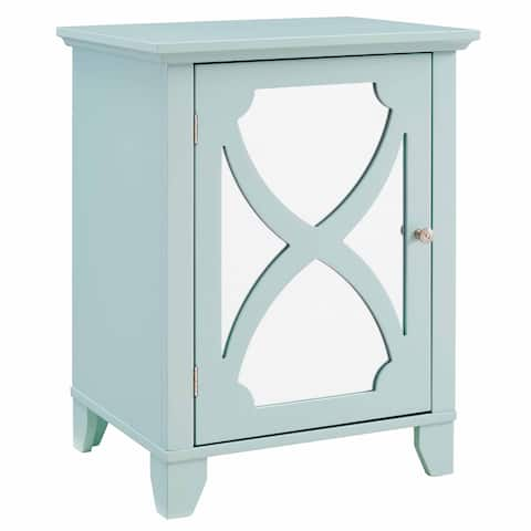 Winnie Seafoam Small Cabinet with Mirrored Door
