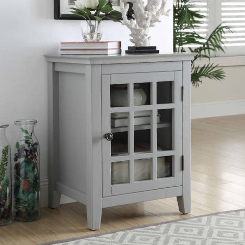 Lola Gray Single Door Cabinet