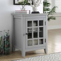 Lola Gray Single Door Cabinet