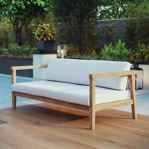 dp teak polywood nautical bench quot outdoor amazon com