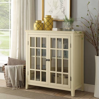 Lola Pale Yellow Double Door Cabinet