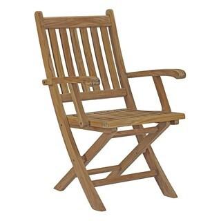 Modway Marina Teak Outdoor Patio Folding Chair